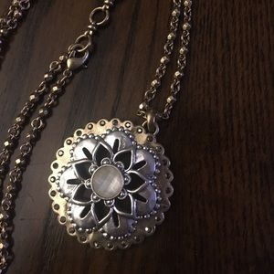 Lucky Brand double strand medallion necklace. 30""